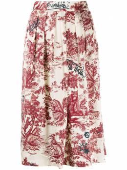 Zadig & Voltaire юбка с цветочным принтом WJCD0301F
