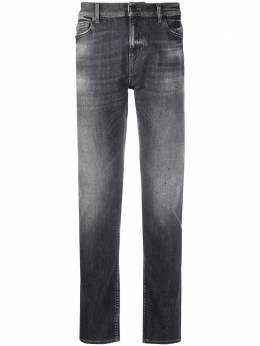 7 For All Mankind прямые джинсы с эффектом потертости JSD4U790MG