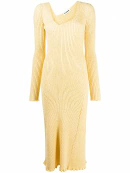Jil Sander платье миди в рубчик JSCR754044WRY21138