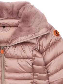 Nylon Down Jacket W/ Faux Fur Save The Duck 72ILXX005-MDAwOTE1