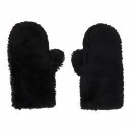 Yves Salomon Black Convertible Wool Mittens 21W21WAA308XXLATI