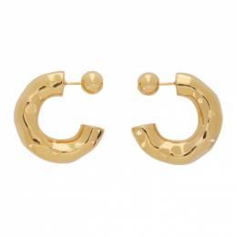 Sophie Buhai Gold Small Giacometti Hoop Earrings FW20-E09-GOLD
