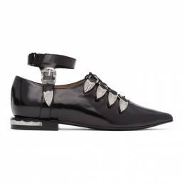 Toga Pulla Black Gillie Ankle Strap Oxfords FTGPW104709021