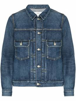 Visvim Social Sculpture 1000 dry damaged denim jacket 120205006002