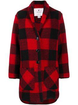 Woolrich check pattern cardi coat WWTS0019FRUT1812