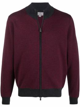 Canali knitted bomber jacket C0022MK01066