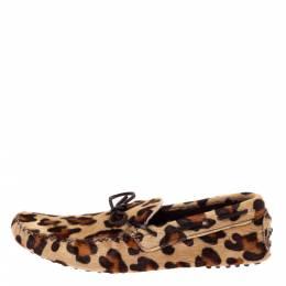 Carolina Herrera Animal Print Calf Hair Bow Slip On Loafers Size 42.5 Ch Carolina Herrera 327943