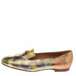 Chanel Multicolor Lurex Crepe Fabric Paris-Dubai Loafers Size 41 327946