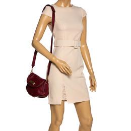 Marc By Marc Jacobs Burgundy Leather Classic Q Natasha Crossbody Bag 323717