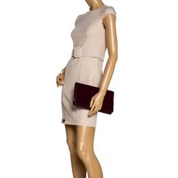 Yves Saint Laurent Burgundy Patent Leather Belle De Jour Clutch 323659