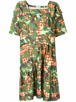 Molly Goddard платье миди с камуфляжным принтом MGAW2030