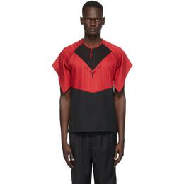Kiko Kostadinov Red and Black Kenneth Jersey T-Shirt KKMFW20-1000