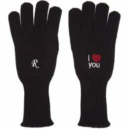 Raf Simons Black I Love You Gloves 202-853