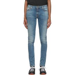Nudie Jeans Blue Skinny Lin Jeans 113484