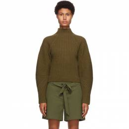 Rag&Bone Khaki Wool Oakes Raglan Turtleneck WAS20FS014XC14