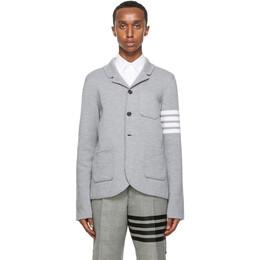 Thom Browne Grey Merino 4-Bar Sport Coat Blazer MKJ024D-00014