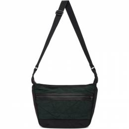Master-Piece Co Green and Black Rebirth Project Edition Canvas Messenger Bag 02012-rp