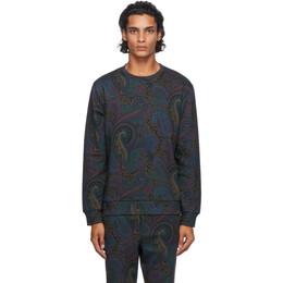 Etro Navy Paisley Sweatshirt 1y441 5594