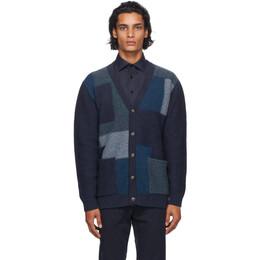 Etro Navy Patch Knit Cardigan 1n303 9697