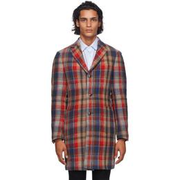 Etro Multicolor Wool Coat 1c904 8706
