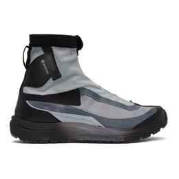 11 By Boris Bidjan Saberi Grey and Black Salomon Edition Bamba 2 High GTX High-Top Sneakers 154 11xS
