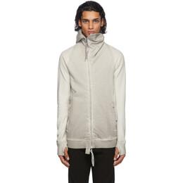 Boris Bidjan Saberi Reversible Light Grey Faded Zip-Up Hoodie ZIPPER 2-FMV000014