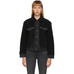 Levi's Black Sherpa Ex-Boyfriend Trucker Jacket 39386-0000