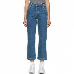 Levi's Blue Ribcage Straight Ankle Jeans 26994-0000