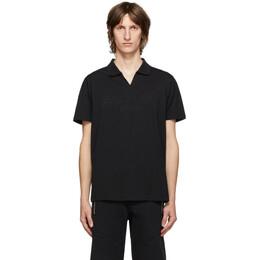 Balmain Black Embossed Logo Polo UH01184I335