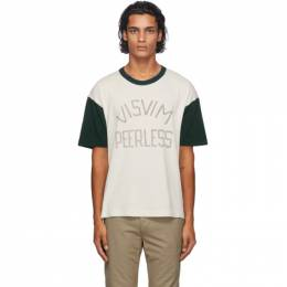 Visvim Brown and White Jumbo T-Shirt 01202050090017