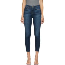 Frame Indigo Cropped Le High Skinny Jeans LHSKC801