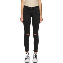 Frame Black Cropped Le Skinny De Jeanne Jeans LSJC208