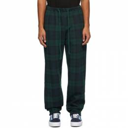 Noon Goons Green Tartan Plaid Icon Lounge Pants NGFW20-006