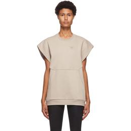 Adidas by Stella McCartney Taupe Sleeveless Muscle Sweatshirt FU0725