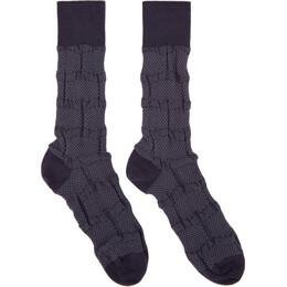 Issey Miyake Men Purple Geometric Socks ME08AI001