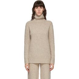 Joseph Beige Tweed Knit Turtleneck JF004770