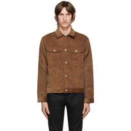 Naked And Famous Denim Brown Seersucker Corduroy Jacket 164802364