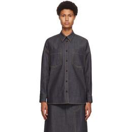 3.1 Phillip Lim Navy Organic Denim Shirt Jacket F201-2720OGD