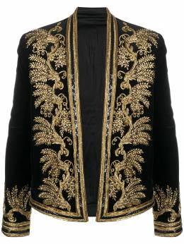 Balmain бархатный пиджак Spencer с вышивкой UH07288P120