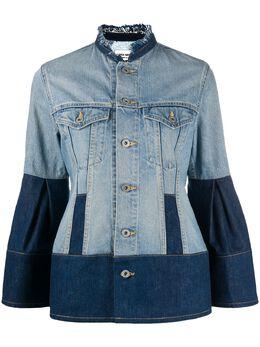 Junya Watanabe джинсовая куртка с контрастной вставкой XFJ002051D1