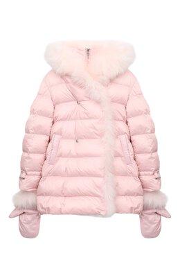 Комплект из куртки и варежек Yves Salomon Enfant 21WEM012XXD0SW/4-6