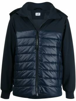 C.P. Company hooded high-neck quilted jacket 09CMOW048A005784M