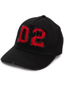 Dsquared2 кепка с нашивкой-логотипом D2 BCW001105C00001