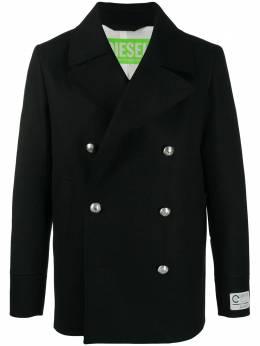 Diesel короткое двубортное пальто A007550DBAD