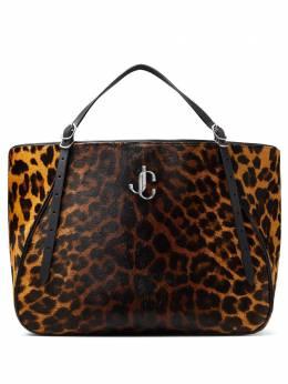 Jimmy Choo сумка-тоут Varenne с леопардовым принтом VARENNETOTEEWQQU