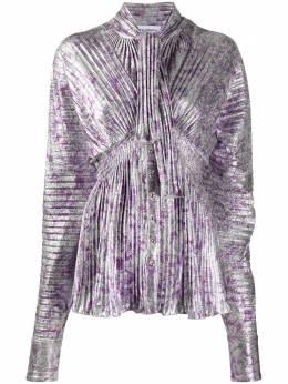 Paco Rabanne блузка с длинными рукавами и складками 20AJTO228VI0270