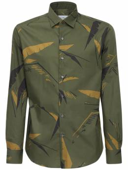 Хлопковая Рубашка С Принтом Salvatore Ferragamo 72IX0A003-NzM4NjAw0