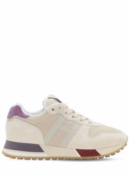 H383 Leather & Tech Sneakers Hogan 72I73P001-MFBTTQ2