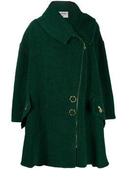Chanel Pre-Owned пальто оверсайз 1980-х годов на молнии CHA3500P