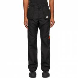 Heron Preston Black Caterpillar Edition Pocket Trousers HMCA032F20FAB0011000